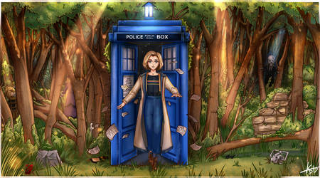 Jodie Whittaker Doctor Who Commission by KuroStars