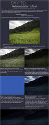 Day to Night Photomanipulation Background Tutorial by prints-of-hooves