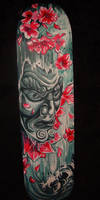 Face Mask Cherry Blossom deck by dthehippie