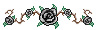 Black Rose Pixel Art by BR-Inky
