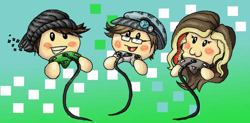 Pixel Gaming Heads by Canis-Solus