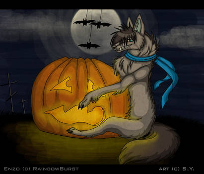 My little sweet Halloween by Axelwolf