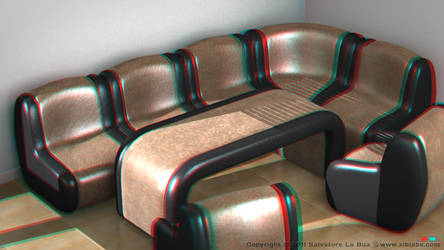 Leather Sofa Set I 3D Anaglyph by SLB81