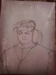 Ryu sketch for Charles by JRFreemanJr