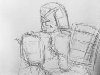 Dredd sketch 9.6.2012 by JRFreemanJr