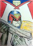 Judge Dredd Sketch Card by JRFreemanJr