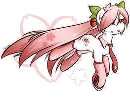 My Little Sakura Miku by secret-pony