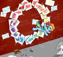 Paper Rainboom by secret-pony