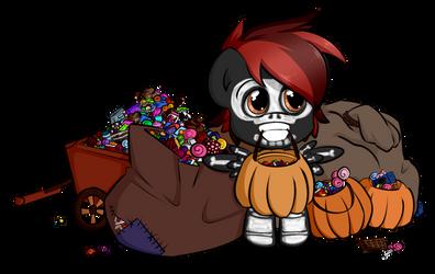 Pack Rat's Hallowe'en - Trick or treat by secret-pony