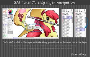 Mini tutorial: easy layer navigation in SAI by secret-pony