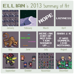 2013 Summary of Art by ThisIsEllian