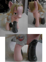 Edward Elric Pony Custom by KiyaraSabel