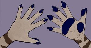 Anthro Hands by KiyaraSabel