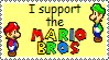 Stamp - Support the Mario Bros by MariettaRC