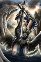 M.T.G. Akroma Angel of Wrath by Reality-Undone