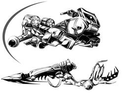 Couple of Hoverbikes by Seothen