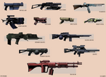 12 Rifts Firearms - Vector Illustration by Seothen