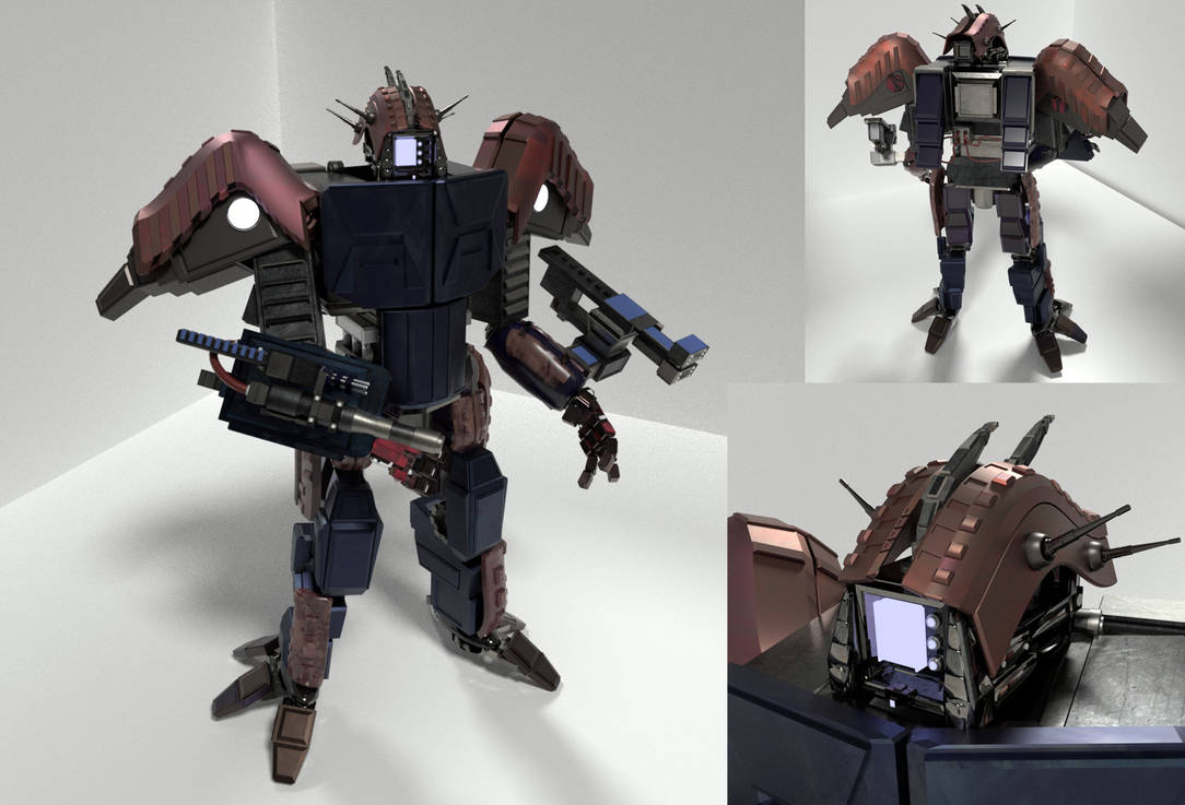 Original Mech - 3D Model - Blender by Seothen