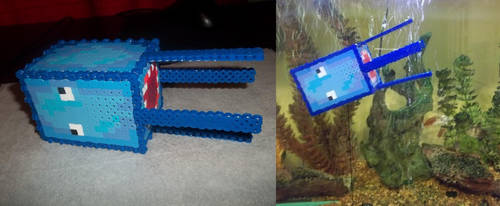 3D Squid Perler - Attempt 1 by Libbyseay