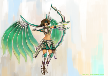 White Silver Dragoon Shana by fireillisa