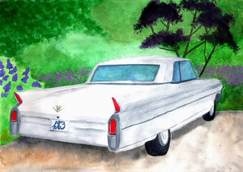 Cadillac Watercolor by PeachFlavorOwl