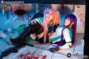 Maya and Saeko by DarkTifaStrife