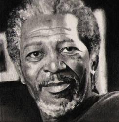 Morgan Freeman by silenthero1