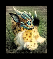 SOLD-Posable Cheetah  Dragon by Wood-Splitter-Lee