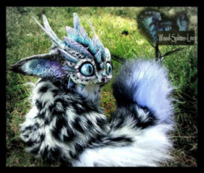 -SOLD- Posable Snow Leopard Dragon by Wood-Splitter-Lee