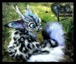 -SOLD- Posable Snow Leopard Dragon by Wood-Splitter-Lee