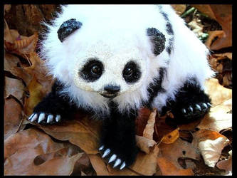 --SOLD--Posable Life Like Baby Panda by Wood-Splitter-Lee