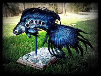 --SOLD-- Poseale Fantasy Blue Fire Fish by Wood-Splitter-Lee
