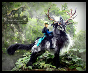 --SOLD--Hand Made Poseable Thunder Stag! by Wood-Splitter-Lee