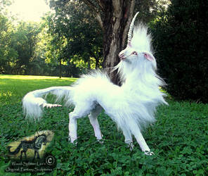 --SOLD--Hand Made Poseable Cloud Dancer Unicorn! by Wood-Splitter-Lee
