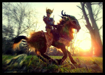 -SOLD- Hand Made Poseable Mount and Rider! by Wood-Splitter-Lee