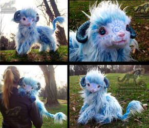 SOLD Hand Made PoseableLIFE SIZED Baby Cloud Lamb! by Wood-Splitter-Lee