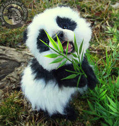 --SOLD--HAND MADE Poseable Baby Panda! by Wood-Splitter-Lee