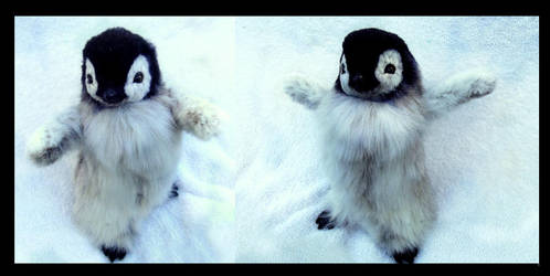 SOLD Hand Made Poseable Baby Penguin! by Wood-Splitter-Lee