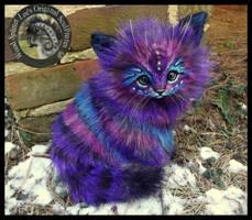 SOLD  Handmade Poseable LIFE SIZED Stardust Kitten by Wood-Splitter-Lee