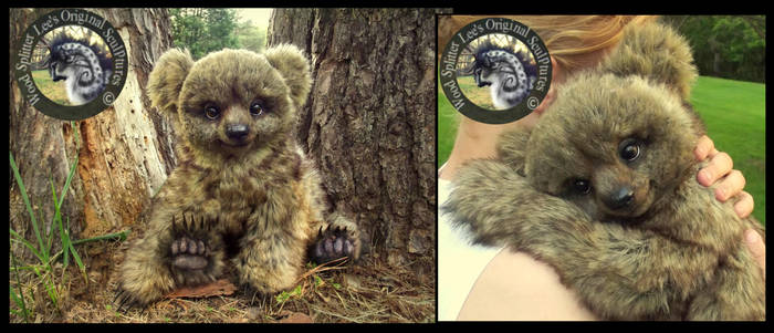 SOLD Handmade LIFE SIZED Poseable Baby Bear Bobo! by Wood-Splitter-Lee