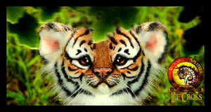 SOLD HANDMADE Poseable Baby Tiger Cub! by Wood-Splitter-Lee