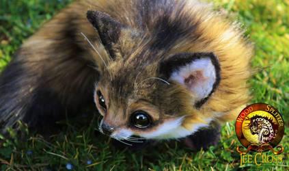 Handmade Poseable Baby Fox Sold by Wood-Splitter-Lee