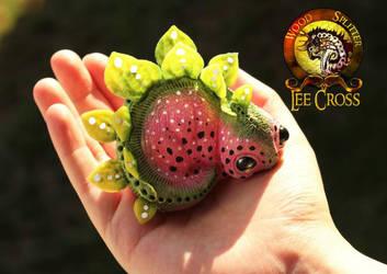Baby Watermelon Stegosaurus Sold by Wood-Splitter-Lee