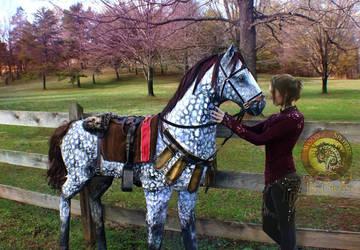Handmade Life Sized Horse! by Wood-Splitter-Lee