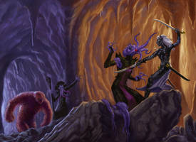 Drow vs MindFlayer by luvazquez