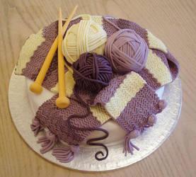 Knitted cake by KarenJerram