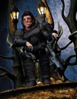 RIFTS Throned Troll Warlock by MADMANMIKE