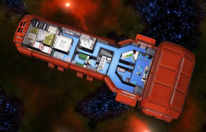 Wedge Freighter 07 by MADMANMIKE