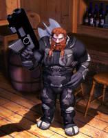 RIFTS Dwarf Rogue Scientist by MADMANMIKE