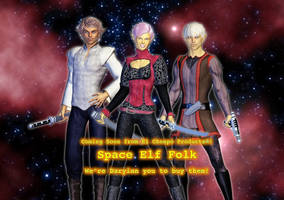 Space Elves Coming Soon by MADMANMIKE